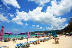Beautiful phuket beach. Beautiful blue sea and sky phuket beach, patong  beach Stock Image