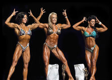Beautiful Physique Winners Flex in Vancouver Stock Image