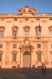 Beautiful Piazza del Quirinale in sunset light in Rome, Italy Stock Photography