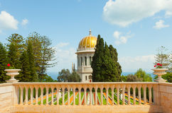 Beautiful picture of the Bahai Gardens in Haifa Israel. Royalty Free Stock Photo