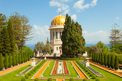 Beautiful picture of the Bahai Gardens in Haifa Israel. Stock Image