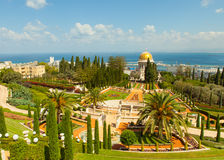 Beautiful picture of the Bahai Gardens in Haifa Israel. Stock Photos