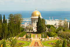 Beautiful picture of the Bahai Gardens in Haifa Israel. Royalty Free Stock Image