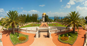 Beautiful picture of the Bahai Gardens in Haifa Israel. Royalty Free Stock Photos