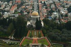 Beautiful picture of the Bahai Gardens in Haifa Israel. Stock Photo