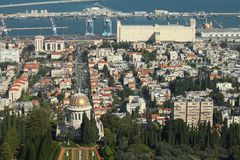 Beautiful picture of the Bahai Gardens in Haifa Israel. Stock Images