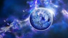 Beautiful picture of blue space Stock Photography