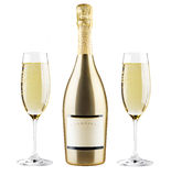 Beautiful picture of a bottle of champagne Royalty Free Stock Image