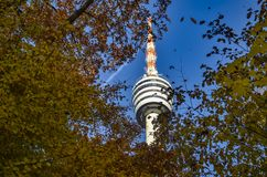 Fernsehturm Stuttgart in autumn. A beautiful picture of the Castele of Hohenzollern in Baden Würrtemberg Germany Stock Images