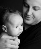 Beautiful picture of the daddy with the baby 6 Royalty Free Stock Image