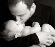 Beautiful picture of the daddy with the baby 8 Royalty Free Stock Photo