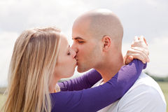 Beautiful picture of kissing couple Stock Photos