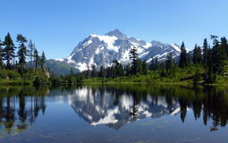 Beautiful Picture Lake In Mt Baker Stock Photos
