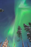 Beautiful picture of massive multicolored green vibrant Aurora Borealis, Northern Lights Stock Photos
