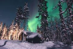 Beautiful picture of massive multicolored green vibrant Aurora Borealis, Northern Lights Stock Photography
