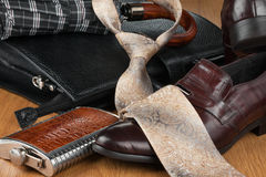 Beautiful picture of mens modern fashion, can use as background. View from above Stock Photo