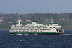 Beautiful picture of the MV Puyallup sailing to Edmonds royalty free stock photo