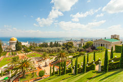 Beautiful Picture Of The Bahai Gardens In Haifa Israel. Royalty Free Stock Photography