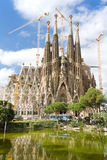Beautiful picture of Sagrada Familia Royalty Free Stock Image