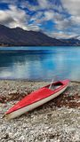 Beautiful picture water and kayak royalty free stock image