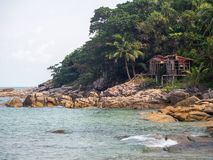 Beautiful pictures on the island of Phangan royalty free stock photo