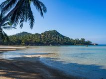 Beautiful pictures of sandy beaches on Koh Phangan royalty free stock photography