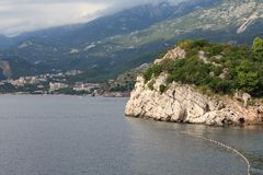 Beautiful picturesque coast of Budva Riviera, Montenegro Stock Photography