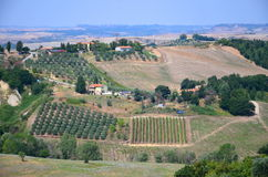 Beautiful picturesque landscape of countyside in Tuscany, Italy Royalty Free Stock Photos