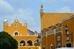 Yellow Village of Izamal Yucatan in Mexico stock image