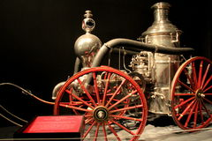 Beautiful piece of fire fighting history, the 1875 Steam Engine truck,Albany's State Museum,New York,2016 Royalty Free Stock Photos