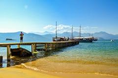 Beautiful pier royalty free stock photos