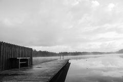 Beautiful pier. And lovely lakes in sweden Stock Images