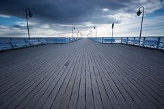 Beautiful pier in Gdynia Royalty Free Stock Images
