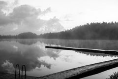 Beautiful pier. And lovely lakes in sweden Royalty Free Stock Photos