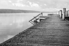 Beautiful pier. And lovely lakes in sweden Royalty Free Stock Photography