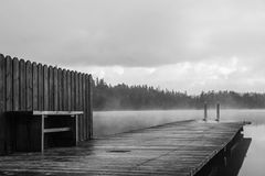Beautiful pier. And lovely lakes in sweden Royalty Free Stock Photo
