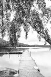 Beautiful pier. And lovely lakes in sweden Stock Image