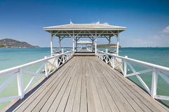 Beautiful pier in Thailand Royalty Free Stock Photo