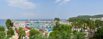 Beautiful pier with yachts. Turkey Stock Photos