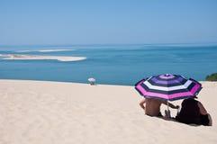 The beautiful pilat dunes on the Atlantic Ocean near Bordeaux. France Stock Images