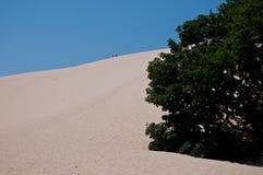 The beautiful pilat dunes on the Atlantic Ocean near Bordeaux. France Royalty Free Stock Photo