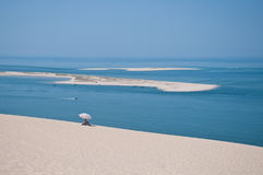 The beautiful pilat dunes on the Atlantic Ocean near Bordeaux Royalty Free Stock Photography