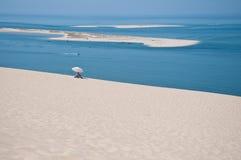 The beautiful pilat dunes on the Atlantic Ocean near Bordeaux. France Stock Photos