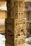 Beautiful pillar at Rani ki vav Royalty Free Stock Photos