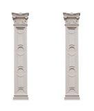 Beautiful pillars isolated on white background.  Royalty Free Stock Photos