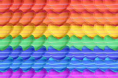 Beautiful pillow texture. Rainbow color on hearth pillow pattern Royalty Free Stock Photos