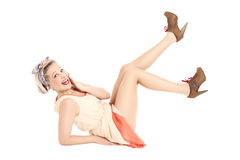 Beautiful Pin Up blond girl Royalty Free Stock Image