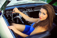 Beautiful pin up brunette Royalty Free Stock Photography