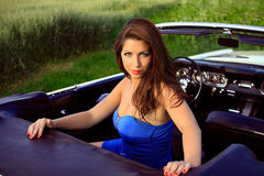 Beautiful pin up brunette Royalty Free Stock Photos