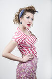 Beautiful pin-up girl royalty free stock photos
